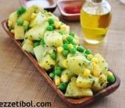Fesleğenli Bezelyeli Patates Salatası