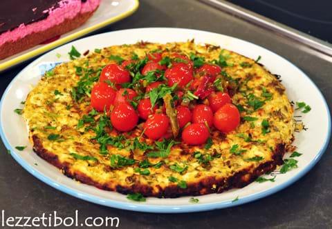 Domatesli Biberli Peynir Tart
