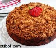 Kıtır Kaplamalı Çilekli Kek
