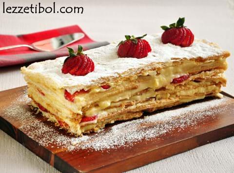 Çilekli Milföy Pastası