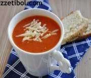 Közlenmiş Domatesli Çorba Ve Aromalı Mini Ekmekcik:)
