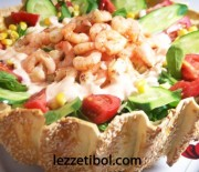 Çıtır Kasede İGLO Gurme Karides Salata
