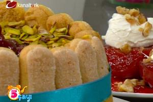 Vişneli Tiramisu Pasta, Nefiss Ayva Tatlısı ve Renkli Kızartma Börek