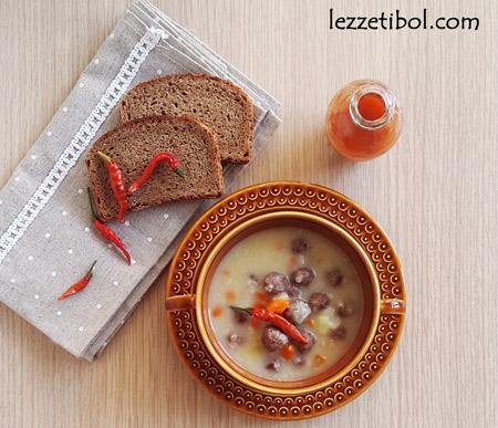 Köfteli Sebze Çorbası (Terbiyeli)
