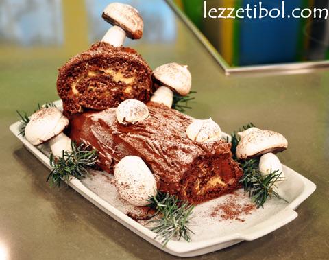 Yılbaşı Ağacı Pastası (Kütük Pasta)