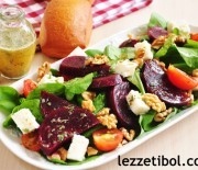 Soslu Peynirli Pancar Salatası
