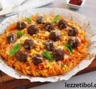 Köfteli Makarna Pizzası
