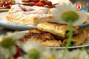 Çilekli milföy, Kaymaklı ıspanaklı börek ve Renkli dilim