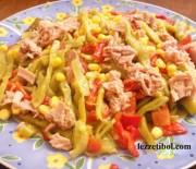 Ton Balıklı Taze Fasulye Salatası